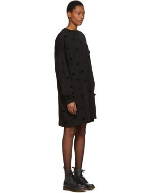 photo Black Supersize Swallow T-Shirt Dress by McQ Alexander McQueen - Image 2
