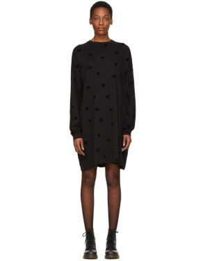 photo Black Supersize Swallow T-Shirt Dress by McQ Alexander McQueen - Image 1