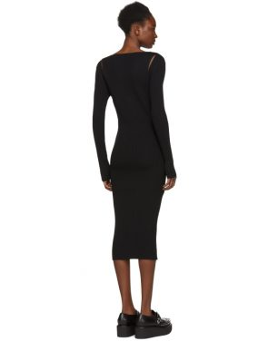 photo Black Bodycon Zip Dress by McQ Alexander McQueen - Image 3