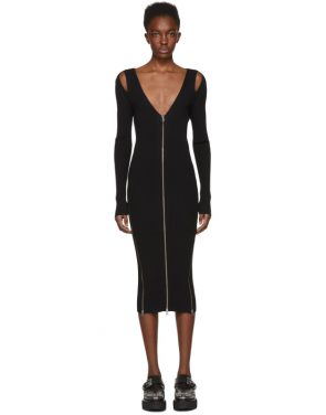 photo Black Bodycon Zip Dress by McQ Alexander McQueen - Image 1