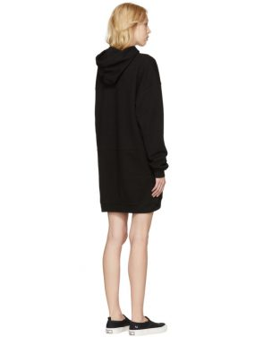 photo Black Bunny Cut Supersized Hoodie Dress by McQ Alexander McQueen - Image 3