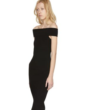 photo Black Bandeau Off-the-Shoulder Dress by McQ Alexander McQueen - Image 4