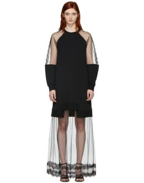 photo Black Hybrid Long Dress by McQ Alexander McQueen - Image 1