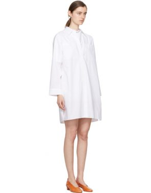 photo White Jacui Shirt Dress by Acne Studios - Image 2
