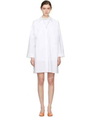 photo White Jacui Shirt Dress by Acne Studios - Image 1