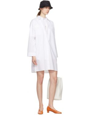photo White Jacui Shirt Dress by Acne Studios - Image 4