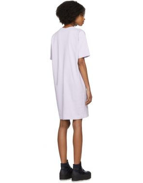 photo Purple Joupa T-Shirt Dress by Acne Studios - Image 3
