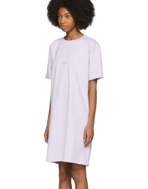 photo Purple Joupa T-Shirt Dress by Acne Studios - Image 4