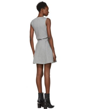 photo Grey Compact Jersey Dress by Dsquared2 - Image 3