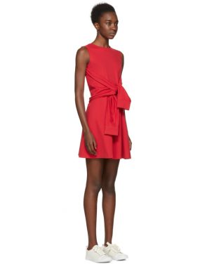 photo Red Compact Jersey Dress by Dsquared2 - Image 2