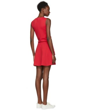 photo Red Compact Jersey Dress by Dsquared2 - Image 3