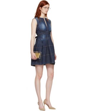 photo Blue Panelled Strap Dress by Dsquared2 - Image 5