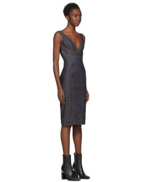 photo Indigo Panelled Denim Dress by Dsquared2 - Image 2
