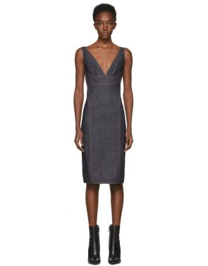 photo Indigo Panelled Denim Dress by Dsquared2 - Image 1