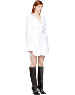photo White Oversized Shirt Dress by Helmut Lang - Image 2