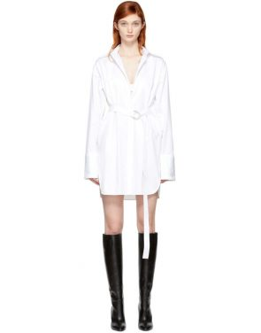 photo White Oversized Shirt Dress by Helmut Lang - Image 1