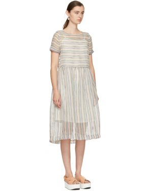 photo Multicolor Striped Perhacs Dress by YMC - Image 2