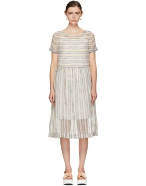 photo Multicolor Striped Perhacs Dress by YMC - Image 1