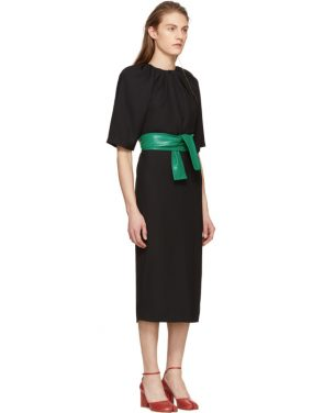 photo Black Belted Dress by Maison Margiela - Image 2