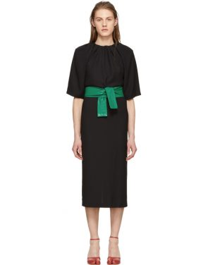 photo Black Belted Dress by Maison Margiela - Image 1