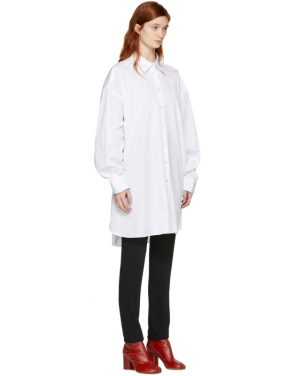 photo White Oversized Shirt Dress by Maison Margiela - Image 2