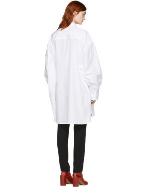 photo White Oversized Shirt Dress by Maison Margiela - Image 3
