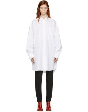 photo White Oversized Shirt Dress by Maison Margiela - Image 1