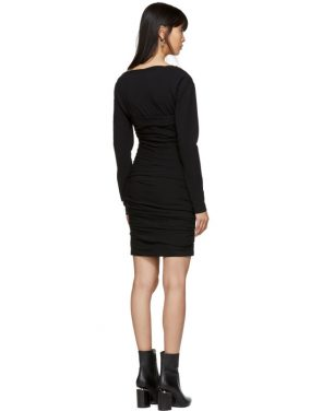 photo Black Constructed Corset Mini Dress by Alexander Wang - Image 3