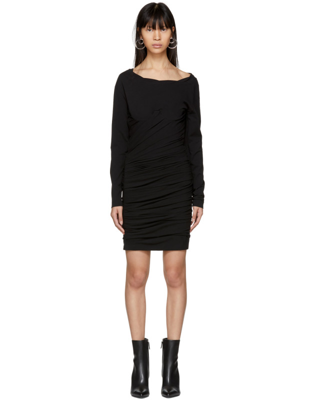 photo Black Constructed Corset Mini Dress by Alexander Wang - Image 1