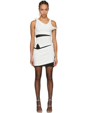 photo Off-White and Black Deconstructed Tank Dress by Alexander Wang - Image 1