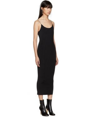 photo Black Ribbed Chain Strap Tank Dress by Alexander Wang - Image 2