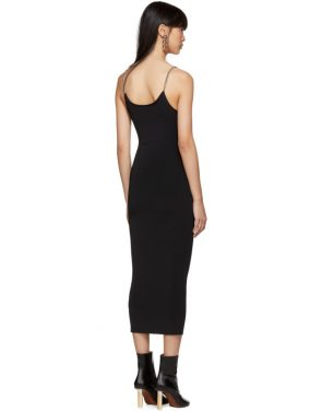 photo Black Ribbed Chain Strap Tank Dress by Alexander Wang - Image 3