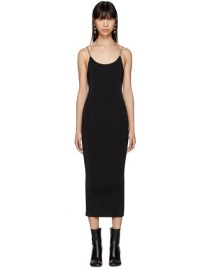photo Black Ribbed Chain Strap Tank Dress by Alexander Wang - Image 1