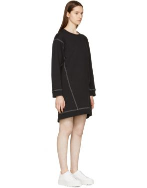 photo Black Basic Sweatshirt Dress by MM6 Maison Martin Margiela - Image 2