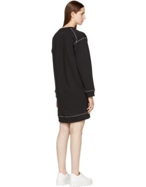 photo Black Basic Sweatshirt Dress by MM6 Maison Martin Margiela - Image 3