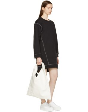 photo Black Basic Sweatshirt Dress by MM6 Maison Martin Margiela - Image 4