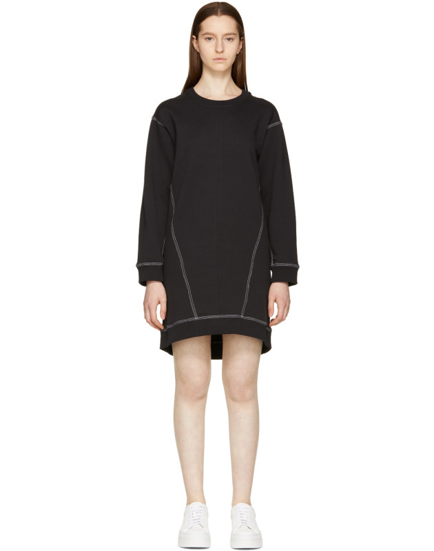 photo Black Basic Sweatshirt Dress by MM6 Maison Martin Margiela - Image 1