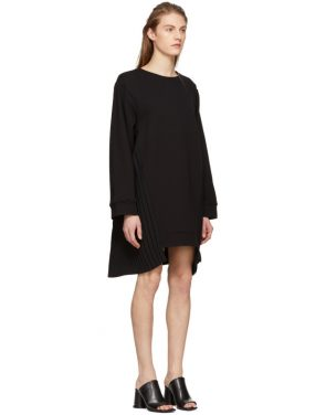 photo Black Pleat Panel Dress by MM6 Maison Martin Margiela - Image 2
