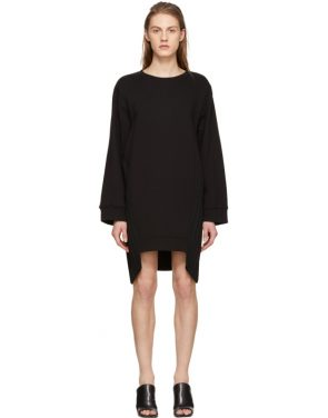 photo Black Pleat Panel Dress by MM6 Maison Martin Margiela - Image 1