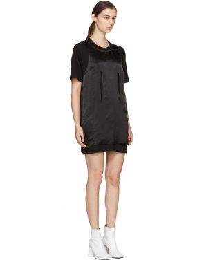 photo Black Jersey Dress by MM6 Maison Martin Margiela - Image 2
