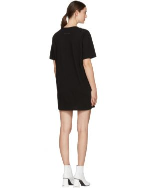 photo Black Jersey Dress by MM6 Maison Martin Margiela - Image 3