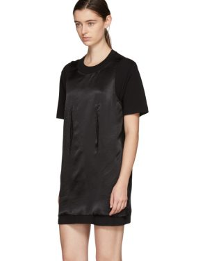 photo Black Jersey Dress by MM6 Maison Martin Margiela - Image 4