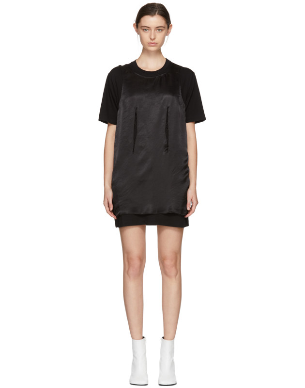 photo Black Jersey Dress by MM6 Maison Martin Margiela - Image 1