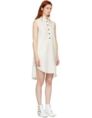 photo White Structured Canvas Shirt Dress by MM6 Maison Martin Margiela - Image 2