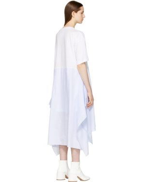 photo White Jersey Combo Dress by MM6 Maison Martin Margiela - Image 3