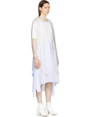 photo White Jersey Combo Dress by MM6 Maison Martin Margiela - Image 4