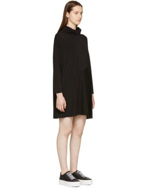 photo Black Crepe Turtleneck Dress by MM6 Maison Martin Margiela - Image 2