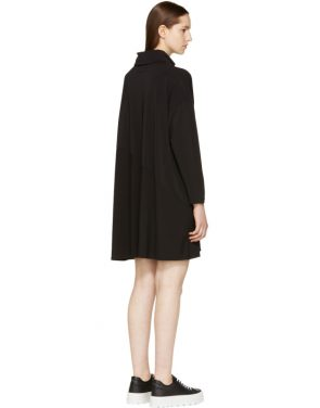 photo Black Crepe Turtleneck Dress by MM6 Maison Martin Margiela - Image 3