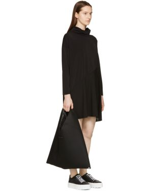 photo Black Crepe Turtleneck Dress by MM6 Maison Martin Margiela - Image 4