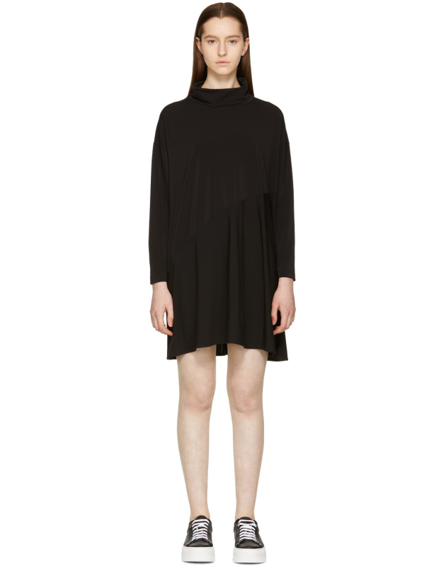 photo Black Crepe Turtleneck Dress by MM6 Maison Martin Margiela - Image 1